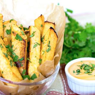 Cilantro-Lime Jicama Fries with Vegan Chipotle Mayo