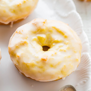Baked Lemon Donuts with Lemon Glaze