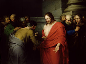 Photo: LMG140050  Credit: The Incredulity of St. Thomas (oil on canvas) by West, Benjamin (1738-1820) © Leeds Museums and Galleries (City Art Gallery) U.K./ The Bridgeman Art Library Nationality / copyright status: American / out of copyright