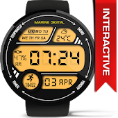 Marine Digital Watch Face