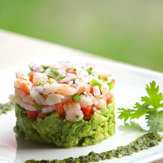 Mexican Ceviche with Shrimp.