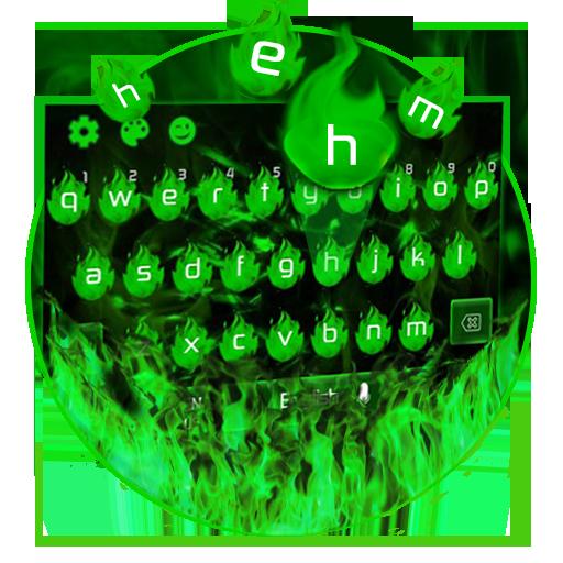 green flame keyboard