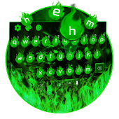 green flame keyboard