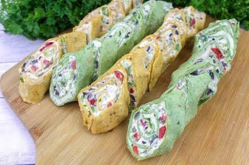 "Veggie Cream Cheese Roll-Ups ""My best friend made these for me. LOVE..."
