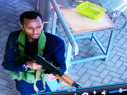 A cctv photo of one of the terrorists. COURTESY