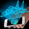 Hologramme 3D Simulator Prank icon