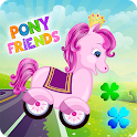 Pony Friends 🦄 - car game for girls icon