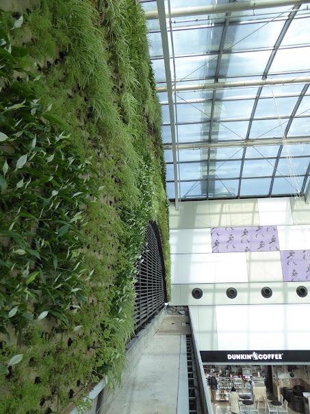 Jardín vertical del centro comercial  diagonal Mar finalizado