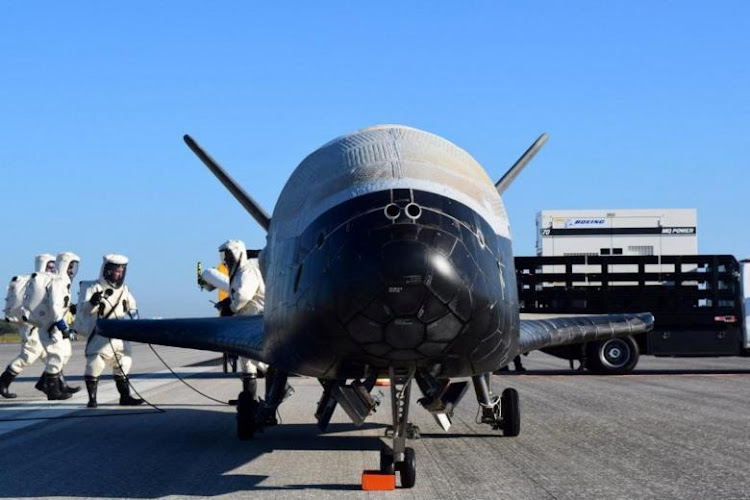 The U.S. Airforce's X-37B Orbital Test Vehicle mission 4 after landing at NASA's Kennedy Space Center Shuttle Landing Facility in Cape Canaveral, Florida. Picture: US AIR FORCE via REUTERS