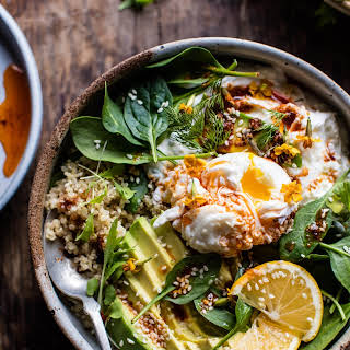Turkish Poached Egg and Quinoa Breakfast Bowl..