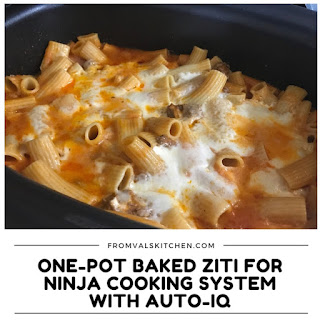 One-Pot Baked Ziti Recipe & Ninja Cooking System With Auto-iQ Review.