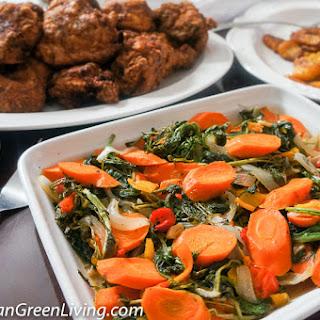 Sautéed Carrots, Kale and Watercress.