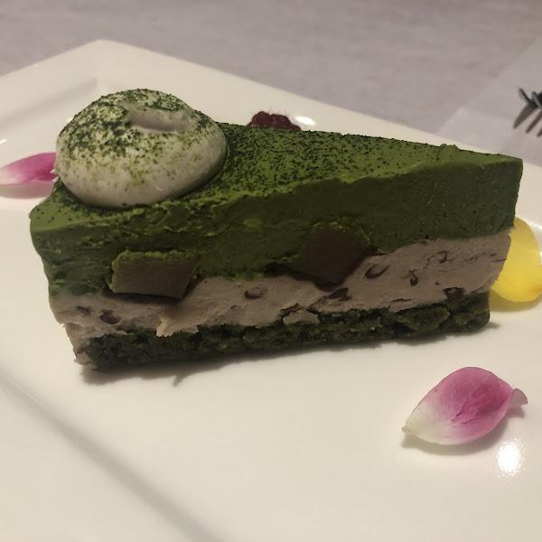 Matcha Green Tea Cake that is GF.