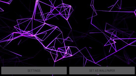 Neon Particles 3D Live Wallpaper screenshot