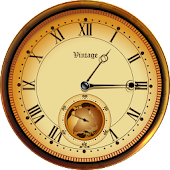 Gold vintage watch face