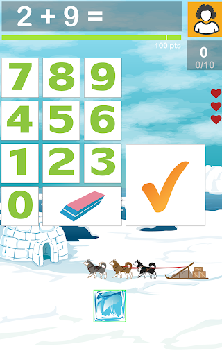 無料教育Appのボックスドロップ数学が合計:練習は基本的な知識を習得します|記事Game