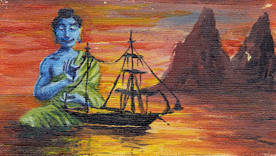 Photo: Teenage Buddha building a model ship.  Painted for my other brother not avail.