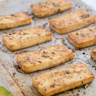 Recipe | Baked Italian Herb Tofu + How To Press Tofu Like A Champ.