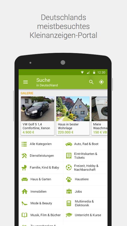 eBay Kleinanzeigen for Germany- screenshot