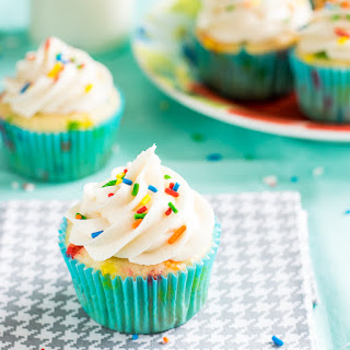 Funfetti Cupcakes with Vanilla Frosting