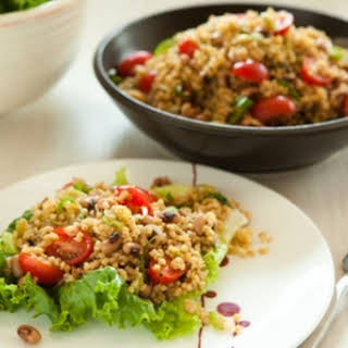 Tomato, Basil and Millet Salad.