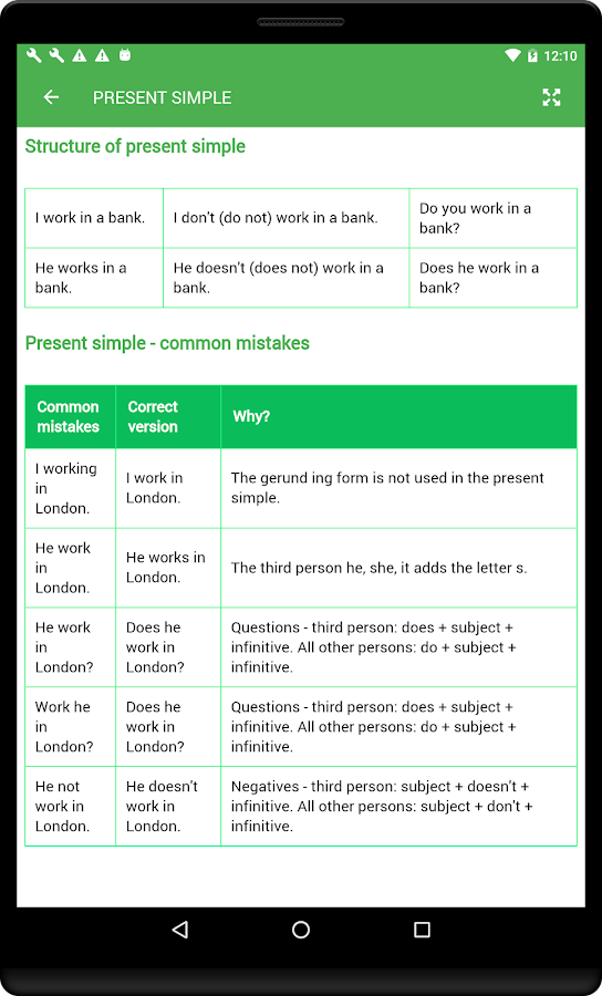 English Tenses Book- screenshot