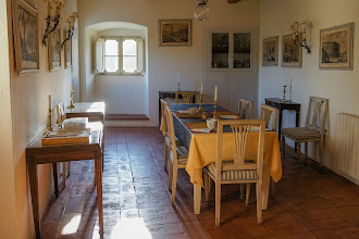 Photo: The dining room in our apartment at Villa Aureli