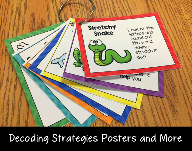 Decoding strategies posters, bookmarks and more