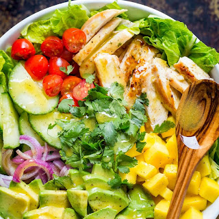 Chicken Mango Avocado Salad (Cheesecake Factory).
