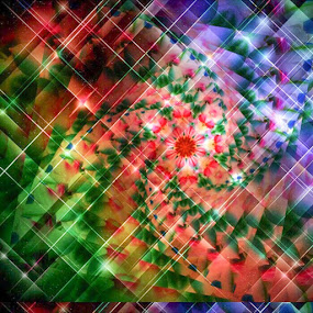 Plaid whirl by Pamela Hammer - Illustration Abstract & Patterns ( abstract, colorful, plaid, art, illustraction )