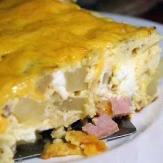 Ham and Cheese Frittata.