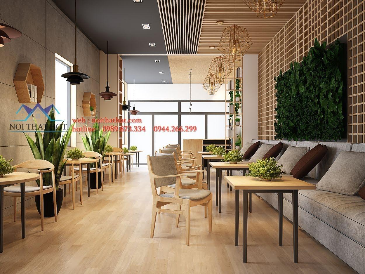thiết kế quán trà sữa Samcha 7