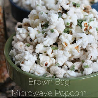 Brown Bag Microwave Popcorn.