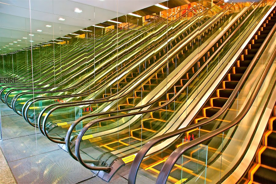Mirror Escalator by Sim Kim Seong - Artistic Objects Other Objects ( pwcmirror )