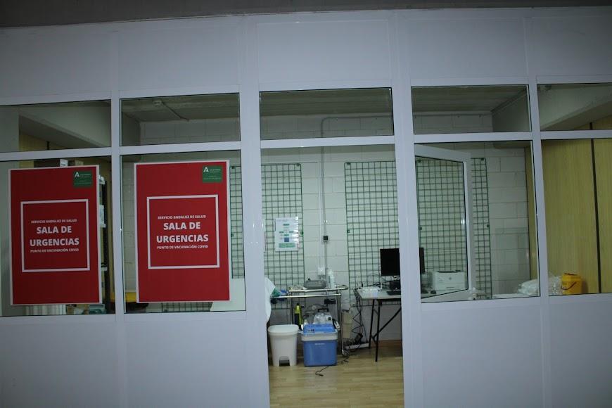 Sala de Urgencias en el Palacio de los Juegos Mediterráneos.