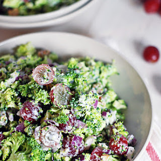 Broccoli Chopped Salad with Creamy Lemon Poppy Seed Dressing