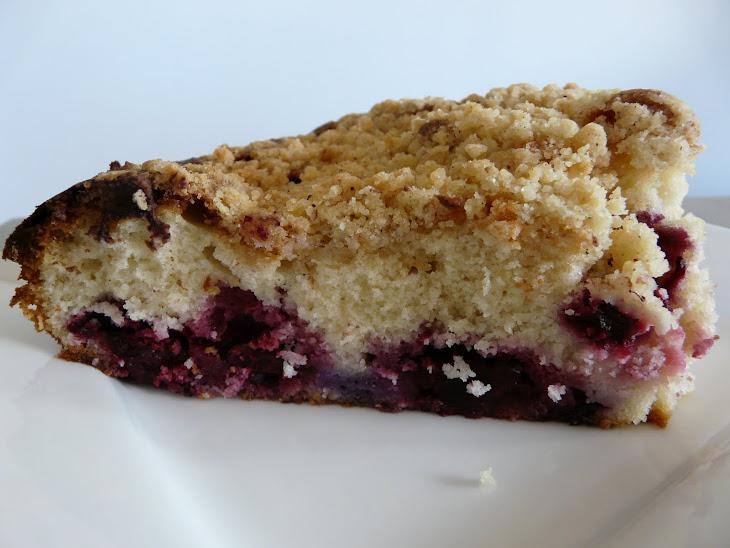 Ultra Soft Blueberry Danish Cake with a Crispy Almond Crust Recipe