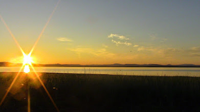 Photo: Sunset sur une lagune du bout du monde