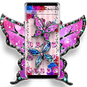 Shiny Diamond Colorful Butterfly Theme icon