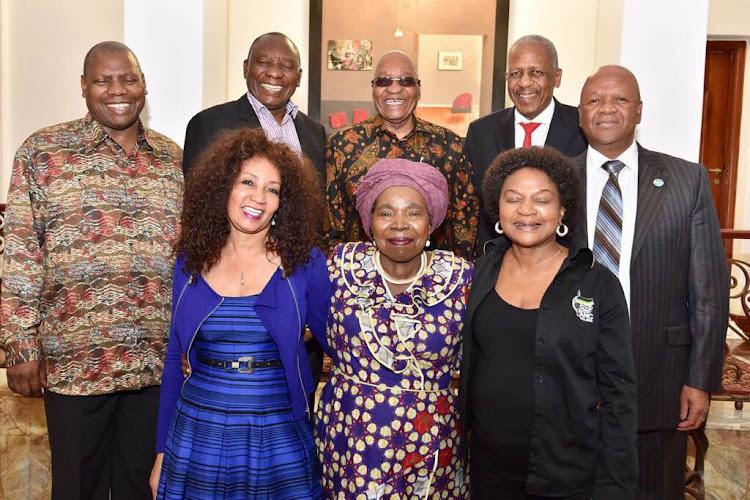 Zweli Mkhize, Cyril Ramaphosa, President Jacob Zuma, Mathews Phosa, Jeff Radebe, Lindiwe Sisulu, Nkosazana Dlamini-Zuma, and Baleka Mbete.