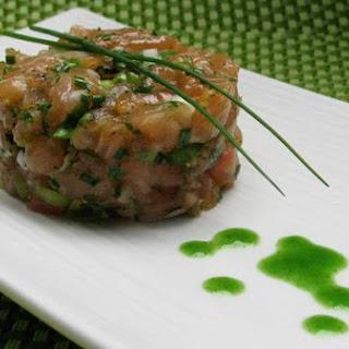 Jade Buddha Salmon Tartare.