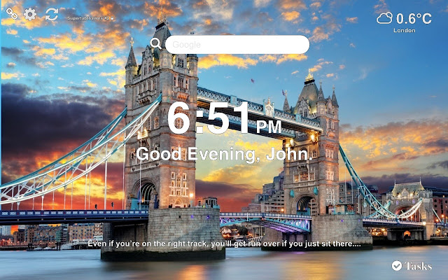 London Wallpaper Tab Theme