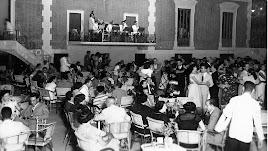 La terraza del Casino en los años 50, cuando era centro de reunión de la alta sociedad