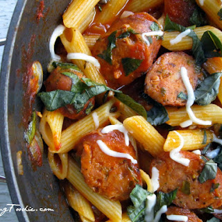 Rustic Penne with Chicken Sausage.