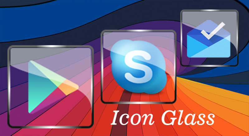 Glass Icon Pack Nova Theme Change Icons Screenshot 2