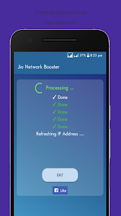 Jio Network Speed Booster Simulated - náhled