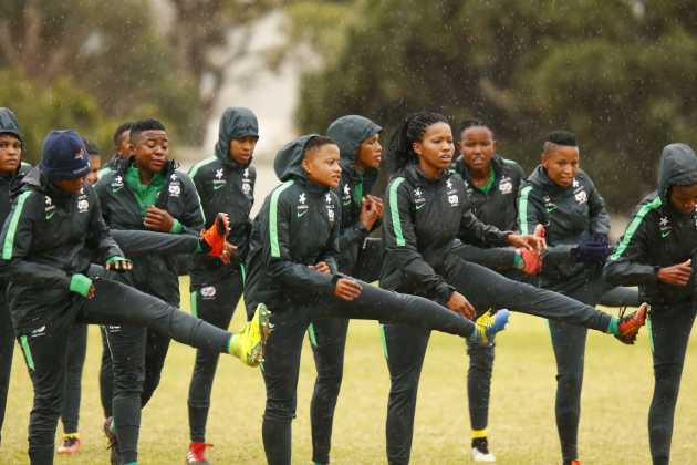 Banyana Banyana training session at Nelson Mandela University on September 06, 2018 in Port Elizabeth, South Africa