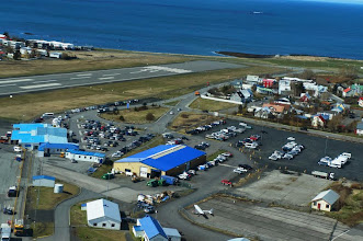 Photo: We are on our way! Aerial view of Reykjavík Airport.