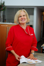 Photo: This beautiful woman, Karen, was as sweet and lovely as she appears to be in this photo. She was the main person who directed and helped us while we were in the kitchen. You can tell that she truly loves her job in the Pillsbury Test Kitchens!