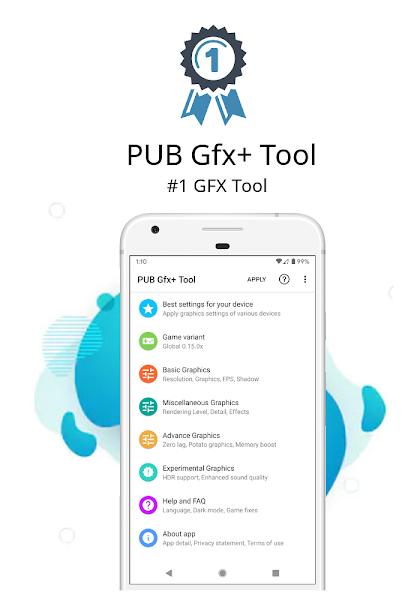 PUB Gfx+ Tool:#1 GFX Tool(with advance settings) v0.17.7 1